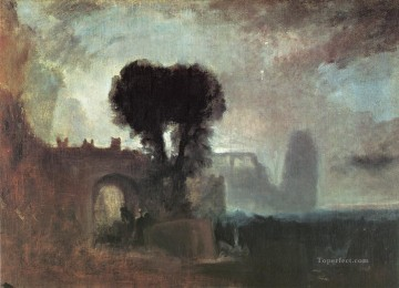 Archway with Trees by the Sea Romantic Turner Oil Paintings